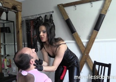 Lady G Humiliates Her Slave 1