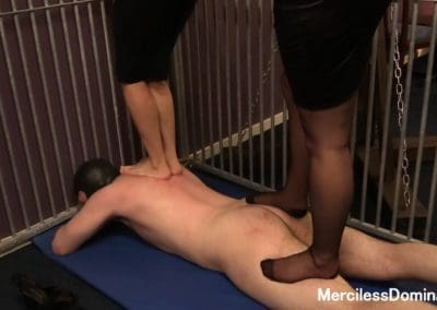Rough Double Trampling in Cage 3