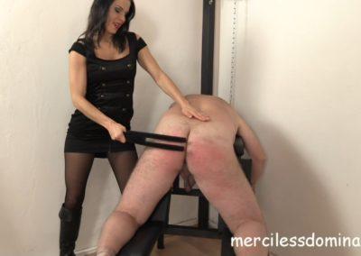 Lady G Spanks Her Slave
