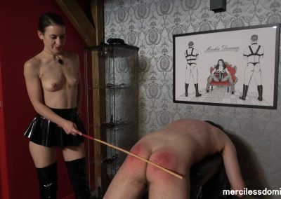 Topless Caning